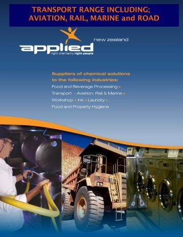 Transport range including - Applied Chemicals NZ