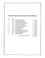 COMMUNITY & ECONOMIC DEVELOPMENT - City of Kalispell