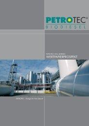Petrotec AG Wertpapierprospekt - More.de AG
