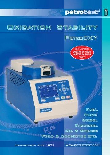 catalog 98-1510 - Oxidation Stability - PetroOxy