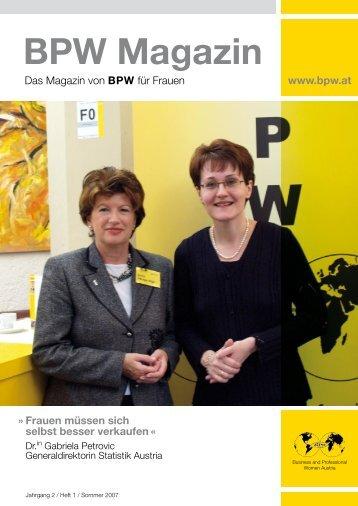 BPW Magazin Sommer 2007 - Business & Professional Women ...