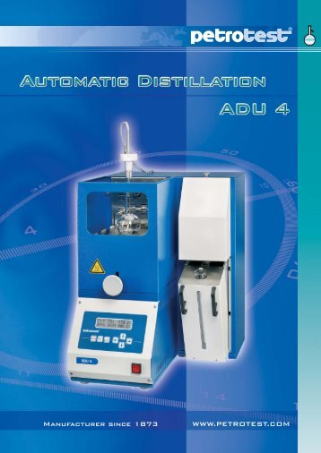 catalog 98-1210 - Automatic Distillation - ADU4