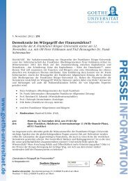 PRESSE INFORMATION - Frankfurt am Main