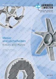 Messer und Lochscheiben Knives and Plates - RS