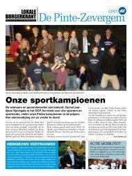 2011 - Burgerkrant 5 - Open VLD De Pinte - Zevergem