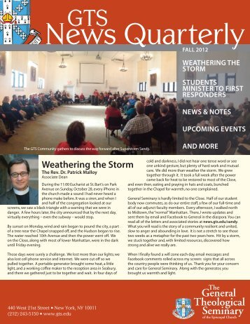 General Theological Seminary - GTS News - The General ...