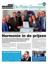2012 - Burgerkrant 1 - Open VLD De Pinte - Zevergem