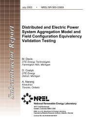 Distributed and Electric Power System Aggregation Model ... - NREL