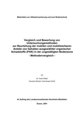 Vergleich und Bewertung von ... - LANUV NRW