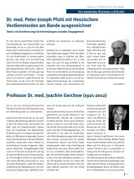 Professor Dr. med. Joachim Gerchow (1921-2012) Dr. med. Peter ...