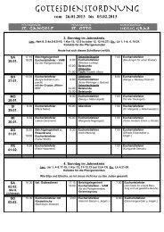 vom 19.01.2013 bis 27.01.2013 - St. Gangolf