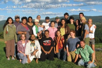 Read our 2007-8 Fifth Anniversary Annual Report - The Center for ...