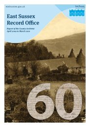 East Sussex Record Office - East Sussex County Council
