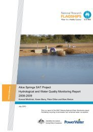 Alice Springs SAT Project Hydrological and Water Quality ...