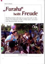 · Weil Menschlichkeit zählt, lässt ein junger Deutscher ein Wai ...