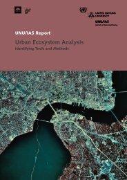 Urban Ecosystem Analysis - UNU-IAS - United Nations University