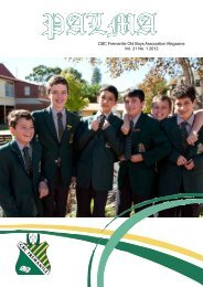 CBC Fremantle Old Boys Association Magazine Vol. 21 No. 1 2012