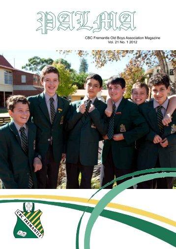 CBC Fremantle Old Boys Association Magazine Vol. 21 No. 1 2012