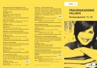 FRAUENAKADEMIE VILLACH Kursprogramm 11/12