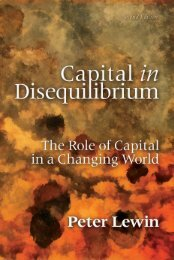 Capital in Disequilibrium - The Ludwig von Mises Institute