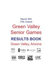 2011 RESULT BOOK COVER - Green Valley Recreation