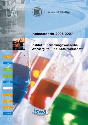 und Abfallwirtschaft Institutsbericht 2006-2007 - Institut für ...