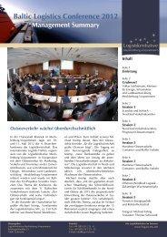 Management Summary - Logistikinitiative Mecklenburg ...