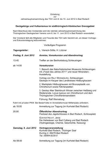 Deckgebirge und Vulkanismus im südthüringisch-fränkischen ...