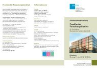 Frankfurter Forschungsinstitut - Netzwerk Stadtforschung Hessen