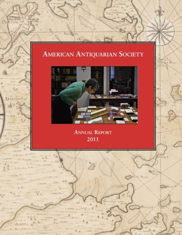Download a PDF - American Antiquarian Society