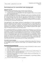 Kommissorium Lean-styregruppe - Psykiatrien - Region Nordjylland