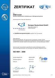 Zertifikat nach ISO 9001 - Sonepar
