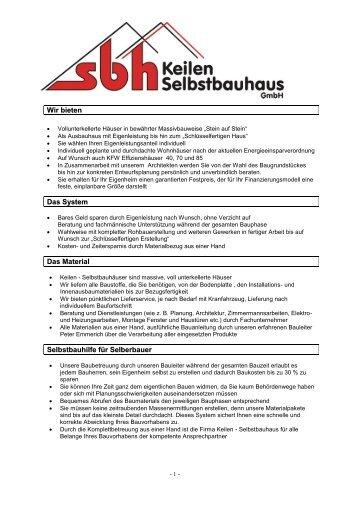 selbstbauhaus baubeschreibung als pdf keilen gmbh ytong preise