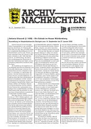 Archivnachrichten Nr. 31 vom Dezember 2005 - Landesarchiv ...