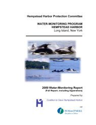 2009 Water Monitoring Report - Hempstead Harbor Protection ...