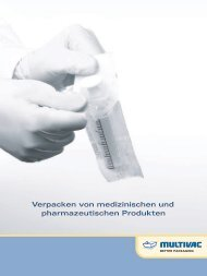 Verpacken von medizinischen und pharmazeutischen ... - Multivac