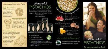 laden sie unsere broschüre - Wonderful® Pistachios