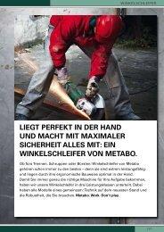 LieGt perfeKt in der hand und Macht Mit MaXiMaLer ... - Metabo