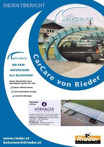 IHR PKW- UNTERSTAND ALS BLICKFANG ... - Betonwerk Rieder