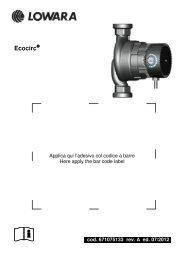 cod. 671075133 rev. A ed. 07/2012 - Lowara