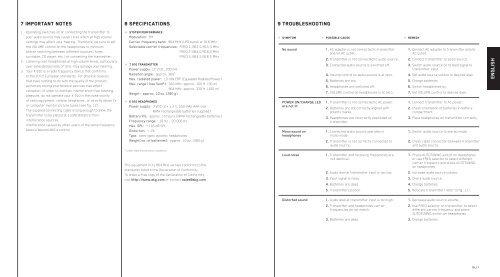 bedienungsanleitung user instructions mode d'emploi istruzioni per l ...