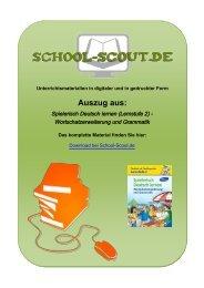 Spielerisch Deutsch lernen (Lernstufe 2 ... - School-Scout