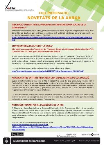 Llegir el Full Informatiu. - Ajuntament de Barcelona