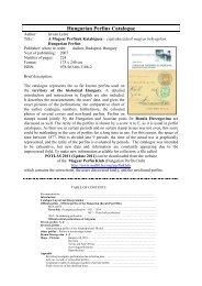 Hungarian Perfins Catalogue - Mafitt