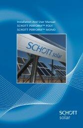 Installation And User Manual SCHOTT PERFORM™ POLY SCHOTT ...