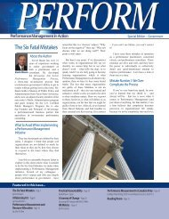 Perform Magazine - Balanced Scorecard Institute