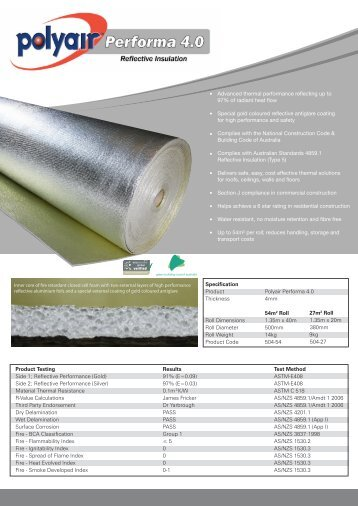 Performa 4.0 - Insulation Industries