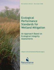 Ecological Performance Standards for Wetland ... - NatureServe