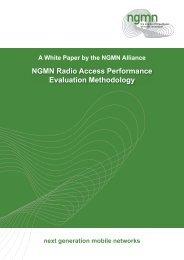 NGMN Radio Access Performance Evaluation Methodology