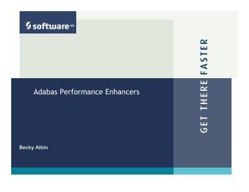 Adabas Performance Enhancers - Software AG
